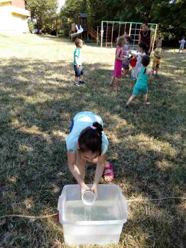 Игре водом у вртићу